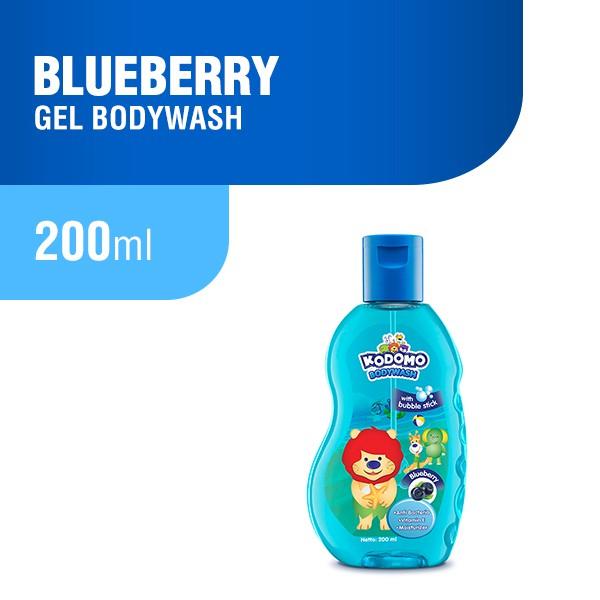 Kodomo Bodywash Gel Blueberry Botol 200 ml