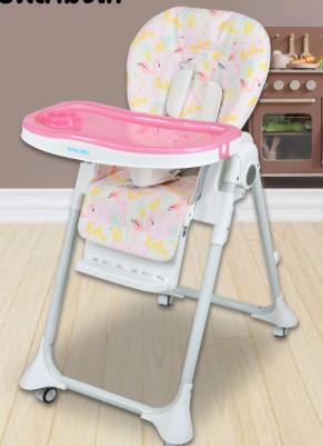Bebeplay เก้าอี้ทานข้าวเด็ก รุ่น Colorful เบาะหนัง PU เกรดพรีเมียม ถอดซักได้ ปรับสูงได้ 7 ระดับ ใส่ล