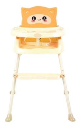 FIN BABIESPLUS เก้าอี้ทานข้าวสำหรับเด็ก ปรับระดับได้ถึง 3 ระดับ พับเก็บได้ ประหยัดเนื้อที่ รุ่น