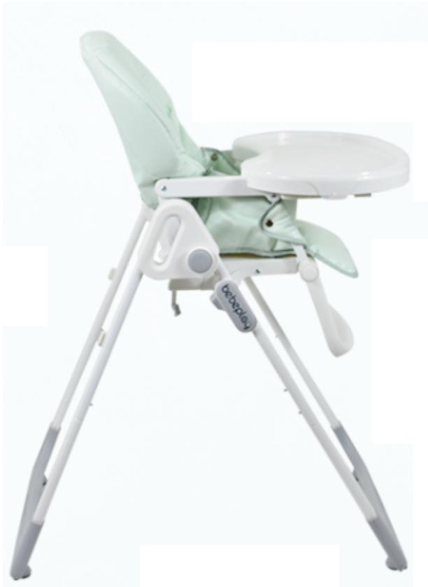 Bebeplay เก้าอี้เด็ก รุ่น Classic เก้าอี้ทานข้าวเด็ก เบาะ PU ปรับความสูงได้ พับเก็บสะดวก