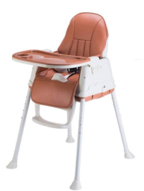 เก้าอี้กินข้าวเด็ก โต๊ะกินข้าวเด็ก เก้าอี้ทานข้าวสำหรับเด็ก เก้าอี้กินข้าวทรงสูง ปรับได้ 3 แบบ เเข็ง